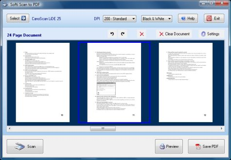 Scan to PDF Software V2 2.27