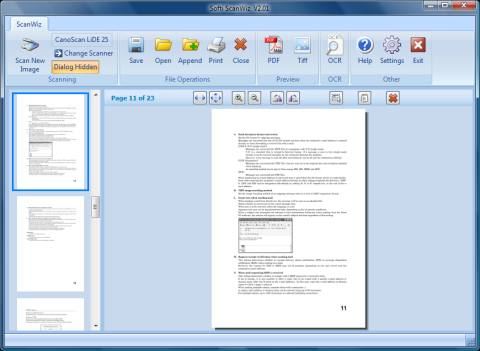 ScanWiz is a Scanner and OCR program it can create multipage Tiff's and PDF's